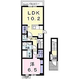 Casa Domani I[2階]の間取り