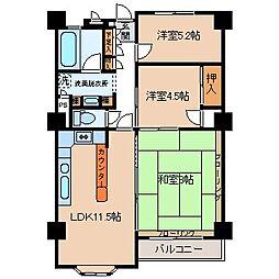 長野県諏訪市湖岸通り4丁目の賃貸マンションの間取り
