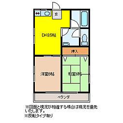 昭和コーポ若松町I[202号室]の間取り