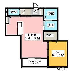 エイトスクエア[2階]の間取り