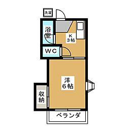 杉原ハイツ[2階]の間取り