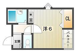 ソル・レヴェンテ2[1階]の間取り