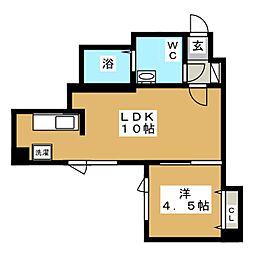 ブランノワールN14.exe[5階]の間取り