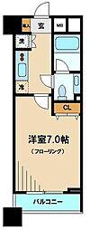 ファーストリアルタワー新宿 12階1Kの間取り