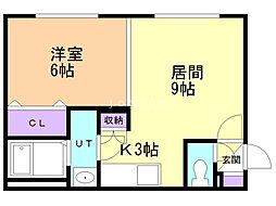 ENCHAN−THE(アンシャンテ) 4階1LDKの間取り