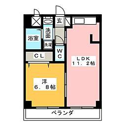 愛知県名古屋市中村区千成通3丁目の賃貸マンションの間取り