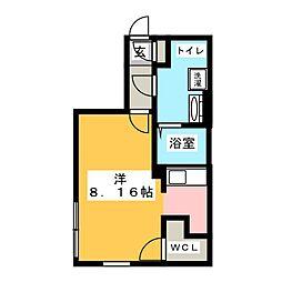 愛知県名古屋市瑞穂区駒場町5丁目の賃貸マンションの間取り