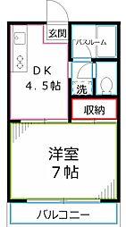 第1いづみマンション[2階]の間取り