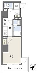 東京メトロ有楽町線 要町駅 徒歩11分の賃貸マンション 9階1Kの間取り