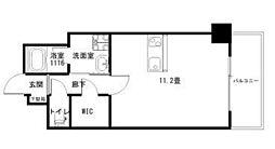 Ko Olina Ukinojo 6階ワンルームの間取り
