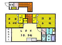 ラフレシール3[2階]の間取り
