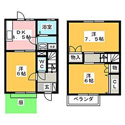 [テラスハウス] 岐阜県羽島郡岐南町平成3丁目 の賃貸【/】の間取り