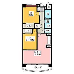 メゾン・ド・エトワール[1階]の間取り