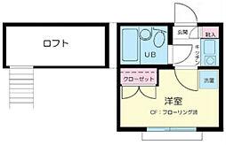 東京都江戸川区北葛西5丁目の賃貸アパートの間取り
