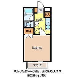 ファンタジーD棟[1階]の間取り