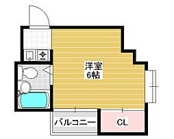 シティライフ堺東[1階]の間取り