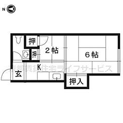 美園荘[2階3号号室]の間取り