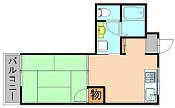 ハイツ瑞穂[7階]の間取り