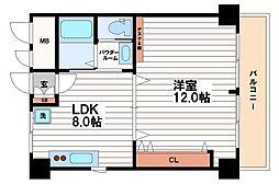 第1森之宮中央ハイツ[9階]の間取り