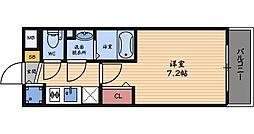 スワンズシティ梅田ウエスト[2階]の間取り