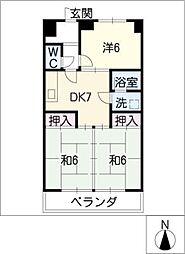 北柿桜マンション[3階]の間取り