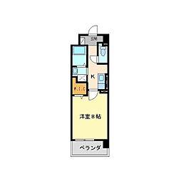 兵庫県尼崎市建家町の賃貸マンションの間取り