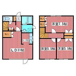 [テラスハウス] 北海道札幌市豊平区月寒東二条20丁目 の賃貸【/】の間取り
