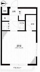 ニュー渋谷コーポラス[9階]の間取り