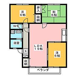 ドエル上田[2階]の間取り