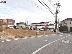 接道状況および現場風景 西東京市向台町5丁目