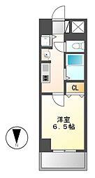 愛知県名古屋市中村区太閤通3丁目の賃貸マンションの間取り