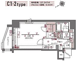 ZOOM白金高輪[9階]の間取り