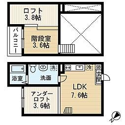 バンベール本地通(バンベールホンチドオリ)[2階]の間取り