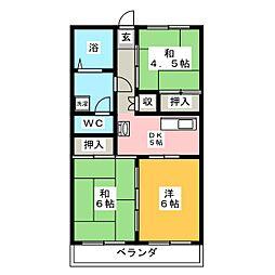 アオヤギハイツ[3階]の間取り