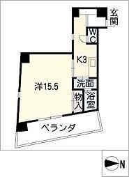 らく富士見[5階]の間取り