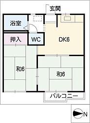 ハイツ藤[1階]の間取り