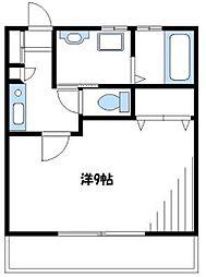 クレディSAWAIII[2階]の間取り