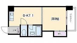 シャトー庵[5C号室号室]の間取り