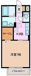 エスト63[1階]の間取り
