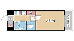 兵庫県神戸市中央区八雲通2丁目の賃貸マンションの間取り