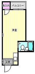 ハイツ針中野[4階]の間取り