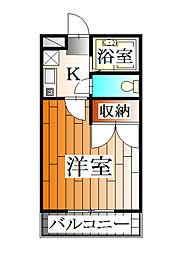 兵庫県三田市相生町の賃貸アパートの間取り