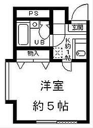 ジュネパレス平塚第18[2階]の間取り
