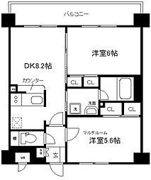 エステムプラザ京都河原町通[309号室]の間取り