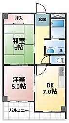 アイバレー新大阪[4階]の間取り