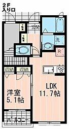 東京都三鷹市新川3丁目の賃貸アパートの間取り