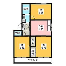 メゾンオーガスト[3階]の間取り