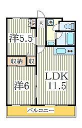 メゾン・ドゥ・レスト[2階]の間取り