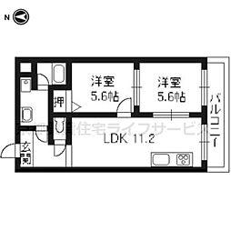 Du四条[6-B号室]の間取り