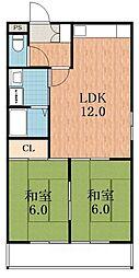 田辺TKマンション[5階]の間取り